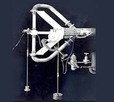 Photo of wind tunnel balance connection